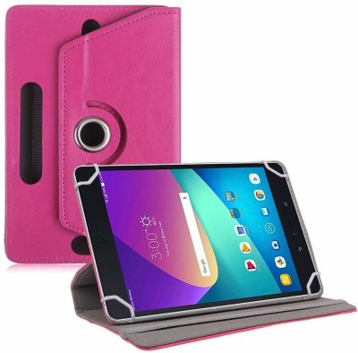 TGK Flip Cover for Asus Zenpad Z8s ZT582KL ASUS-P00J LTE Tablet 7.9 Tabletwith Rotating leather Stand Case(Purple, Cases with Holder)