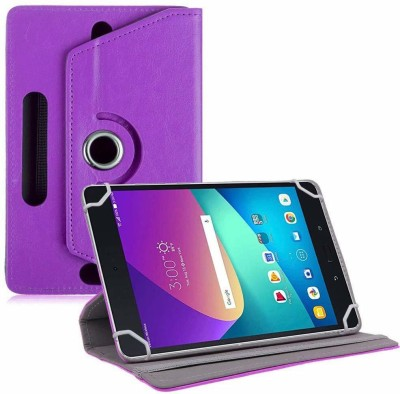 TGK Flip Cover for Asus Zenpad Z8s ZT582KL ASUS-P00J LTE Tablet 7.9 Tabletwith Rotating leather Stand Case(Pink, Cases with Holder)