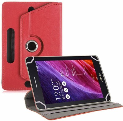 TGK Flip Cover for Asus Fonepad 7 Fe171cg Tablet 7 inch with Rotating leather Stand Case(Red, Cases with Holder)