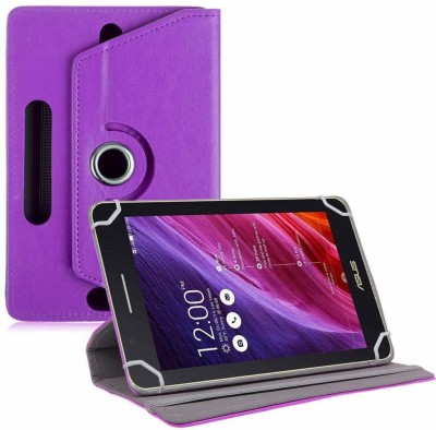 TGK Flip Cover for Asus Fonepad 7 Fe171cg Tablet 7 inch with Rotating leather Stand Case(Purple, Cases with Holder)