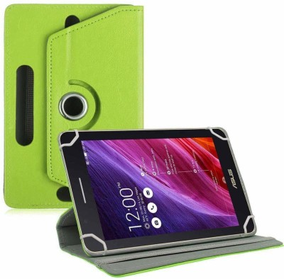 TGK Flip Cover for Asus Fonepad 7 Fe171cg Tablet 7 inch with Rotating leather Stand Case(Green, Cases with Holder)
