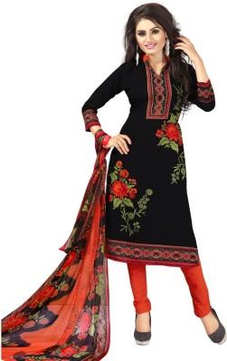 Saara Poly Crepe Printed, Floral Print Salwar Suit Material(Unstitched)