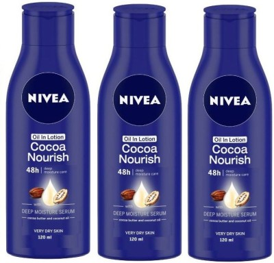 NIVEA Oil in Lotion Cocoa Nourish Body Lotion(360 ml)