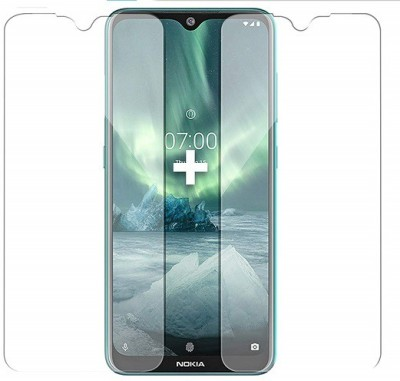 Bodoma Tempered Glass Guard for Nokia 7.2(Pack of 2)