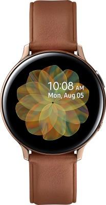 Samsung Galaxy Watch Active 2 Steel Gold Smartwatch(Brown Strap Regular)