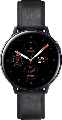Samsung Galaxy Watch Active 2 Steel Black Smartwatch(Black Strap Regular)
