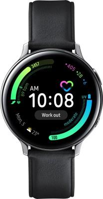 Samsung Galaxy Watch Active 2 Steel Silver Smartwatch(Black Strap Regular)