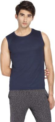 S BEAST Solid Men Round Neck Dark Blue T Shirt