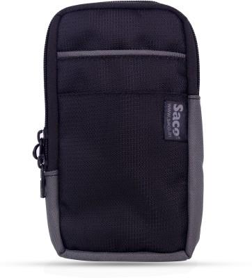 Saco Universal Small Zipper Cellphone Holster Belt Loops Clip case(Grey)