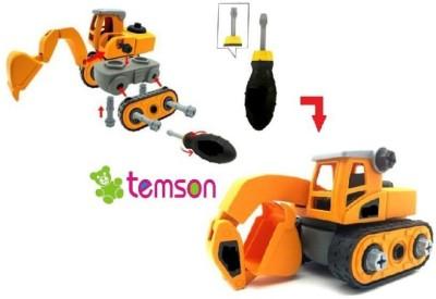 TEMSON High Quality DIY Dissembled Assembled Excavator Construction Vehicle(Multicolor)