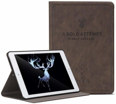 GALARIX Book Cover for Smart Deer Flip case Cover for Apple iPad 2019 7th Generation 10.2 inch(Brown, Dual Protection)