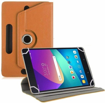 TGK Flip Cover for Asus Zenpad Z8s ZT582KL ASUS-P00J LTE Tablet 7.9 Tabletwith Rotating leather Stand Case(Orange, Cases with Holder)