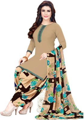 EthnicJunction Chanderi Cotton Embroidered, Embellished Salwar Suit Material(Unstitched)