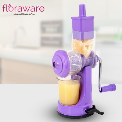 Floraware Plastic Hand Juicer Plastic Fruit and Vegetable Juicer with Steel Handle (Purple)(Purple Pack of 1)