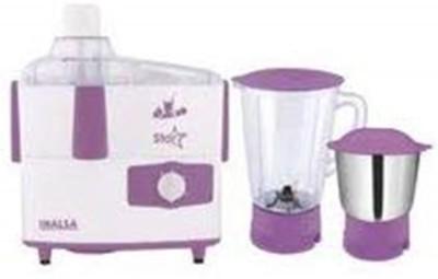 Inalsa JMG Star 2 JAR 450 Juicer Mixer Grinder(White, Purple, 2 Jars)
