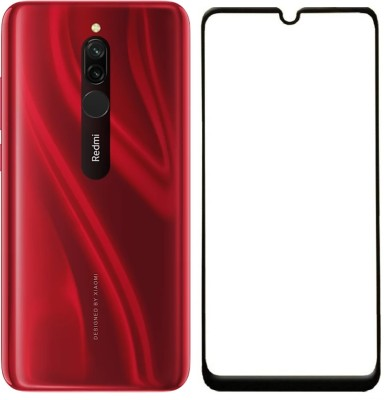 Mobizworld Edge To Edge Tempered Glass for Xiaomi Redmi 8(Pack of 1)