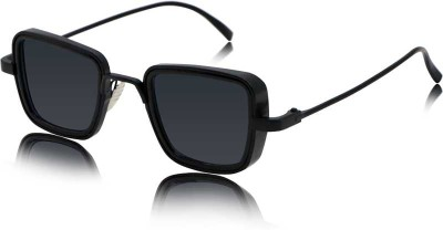 Trendy Glasses Retro Square Sunglasses(Black)