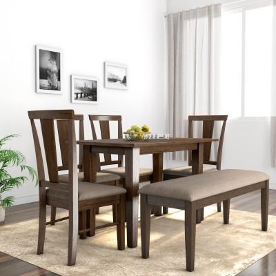Flipkart Perfect Homes Fraser Solid Wood 6 Seater Dining Set(Finish Color -...
