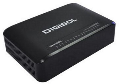 Digisol 16 port Gigabit unmanageable Network switch Network Switch back Digisol Switches