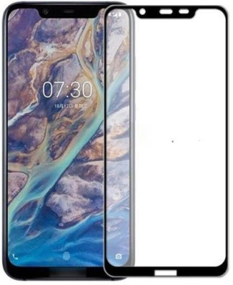 Richuzers Edge To Edge Tempered Glass for Nokia 8.1 Original 9H Shield 11D Glass(Pack of 2)