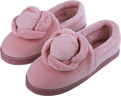 IRSOE Cassiey ™ Comfortable Indoor/Outdoor Winter Slip on Shoes  Womens Slip on Shoes  Girls Winter Fur Shoes Casuals For Women(Pink)