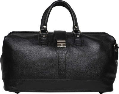 C Comfort Genuine Leather Small Travel Bag Duffel Without Wheels Black C Comfort Duffel Bags