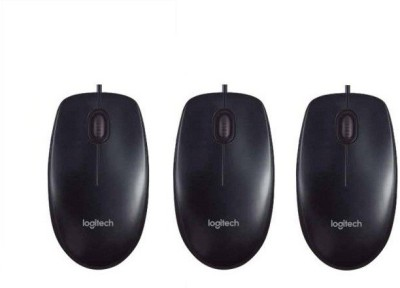 Logitech B100 Wired Optical Mouse_Pack_3 Wired Optical Gaming Mouse