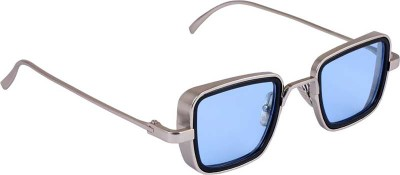 Trendy Glasses Retro Square Sunglasses(Silver)