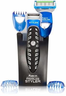 Gillette Fusion Proglide 3-in-1 Styler  Runtime: 30 min Trimmer for Men  (Black, Blue)