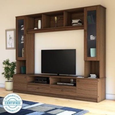 Flipkart Perfect Homes Engineered Wood TV Entertainment Unit(Finish Color - Latin Walnut)