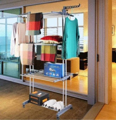 FAVOUR Steel Floor Cloth Dryer Stand B2MSNEW011(3 Tier)
