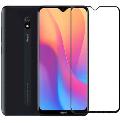 CEDO XPRO Edge To Edge Tempered Glass for Full Glue Coverage Screen Protector For Xiaomi Redmi 8A (Black)(Pack of 1)