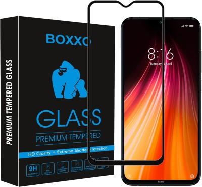Boxxo Edge To Edge Tempered Glass for Mi Redmi Note 8, Redmi Note 8(Pack of 1)