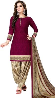 Fashion Valley Crepe Self Design Salwar Suit Material(Unstitched)