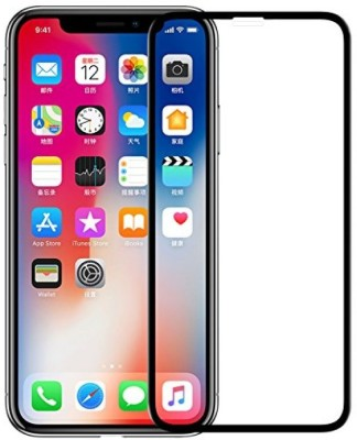 ajd Edge To Edge Tempered Glass for Apple iPhone X, Apple iPhone XS(Pack of 1)