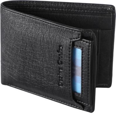 Dezire Crafts Men Formal, Casual Black Artificial Leather Wallet(8 Card Slots)