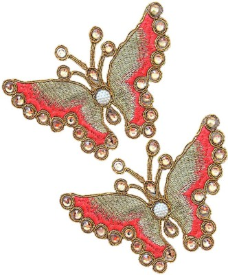 Embroiderymaterial Butterfly Shape Hand Embroidery Patches (2Pcs)