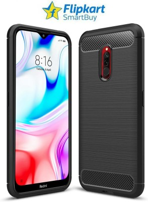 Flipkart SmartBuy Back Cover for Mi Redmi 8(Black, Rugged Armor)