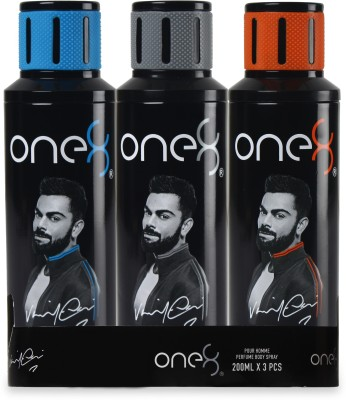 One8 By Virat Kohli One8 Deo Buy2 Get 1 Free combo Perfume Body Spray  -  For Men(600 ml, Pack of 3)