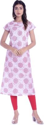 Qalamkari Casual Printed Women Kurti Pink
