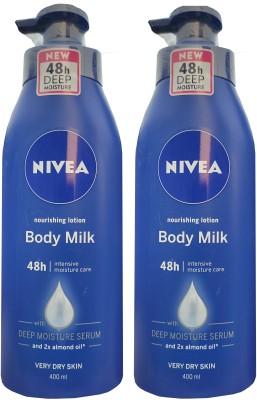 Nivea Nourishing Lotion Body Milk 400ml *2(800 ml)