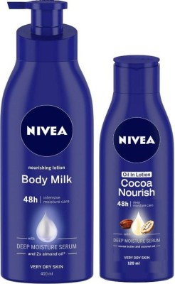 NIVEA Nourishing Body Milk Lotion & Oil in Lotion Cocoa Nourish Body Lotion(520 ml)