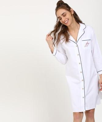 CHEMISTRY Women Nightshirts(White)