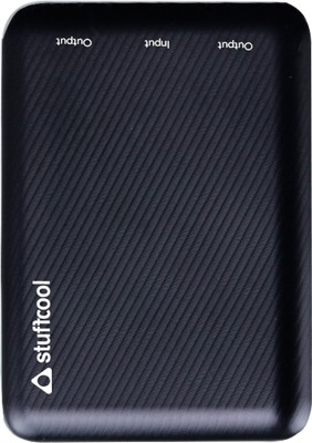Stuffcool 10000 mAh Power Bank (Li Polymer Mini, PB99-BLK)(Black, Lithium Polymer)