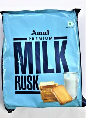 Amul Milk Rusk Pack of 3 Milk Rusk flavored Milk Rusk(3 x 66.67 g)