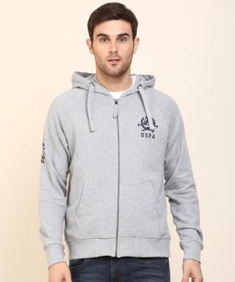 U.s.Polo Association Full Sleeve Solid Men Sweatshirt