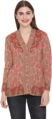 Shree Mark Women Button Self Design Cardigan