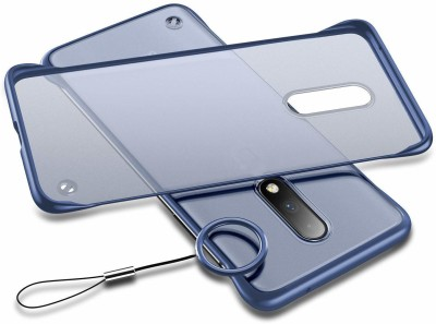 VeilSide Back Cover for Vivo V17 Pro(Blue, Transparent, Grip Case)