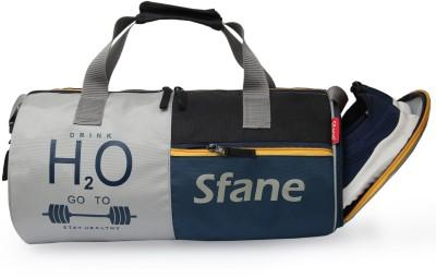 Sfane Men & Women Black Sports Duffel Gym Duffel Bag
