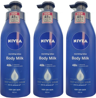 Nivea Nourishing Lotion Body Milk 400ml *3(1200 ml)